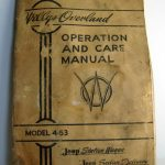 1947 Willys Overland Owners Manual Model 4-63 Jeep Station Wagon