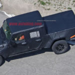 Jeep Wrangler based truck spy shots!